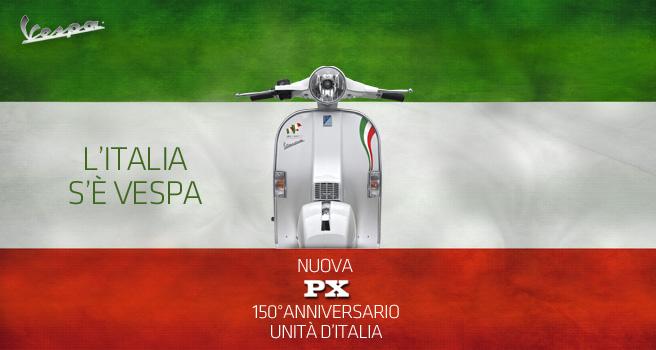 Vespa PX 150° Anniversario Unità d'Italia