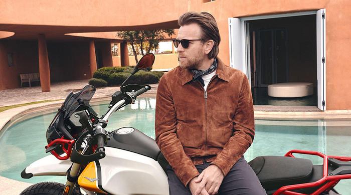 Authentic Moto Guzzi fan Ewan McGregor is back on a Mandello bike