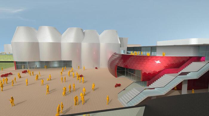 Moto Guzzi: presentato l'avveniristico progetto della nuova fabbrica e del museo di Mandello, unico per stile e genere