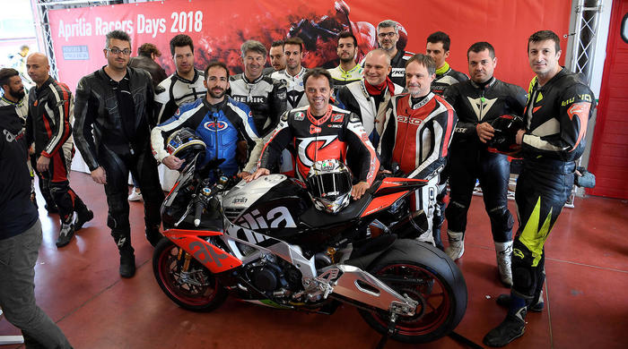 Loris Capirossi ai Racers Days Aprilia